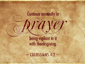 Continue to Pray