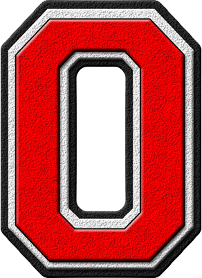 letter O - red