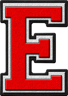 Letter - E (red)