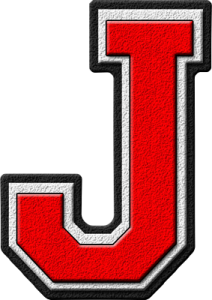 Letter - J (red)