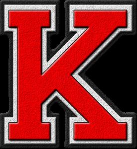 Letter - K (red)