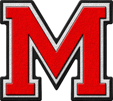 Letter - M (red)