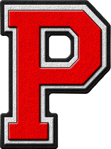 Letter - P (red)