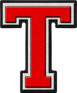 Letter - T (red)