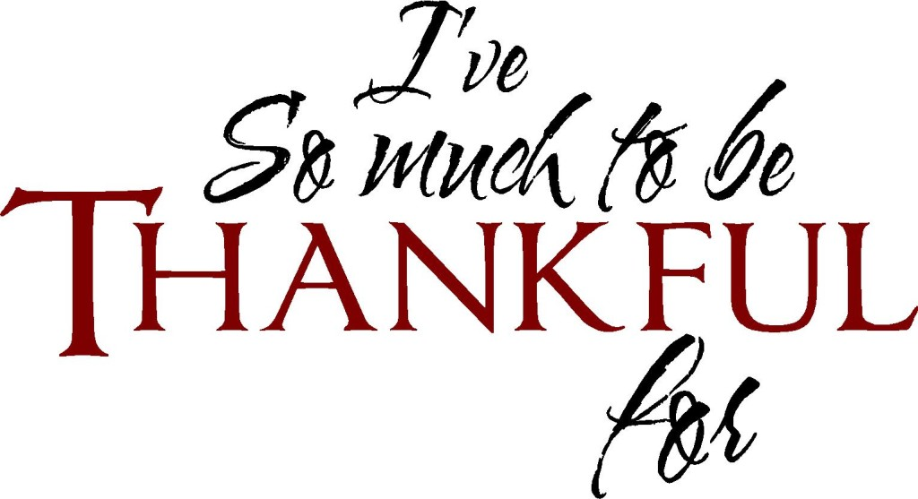 So Much To Be Thankful For!